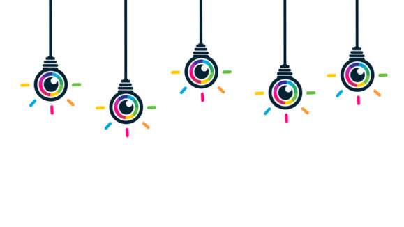 Colorful eye bulbs