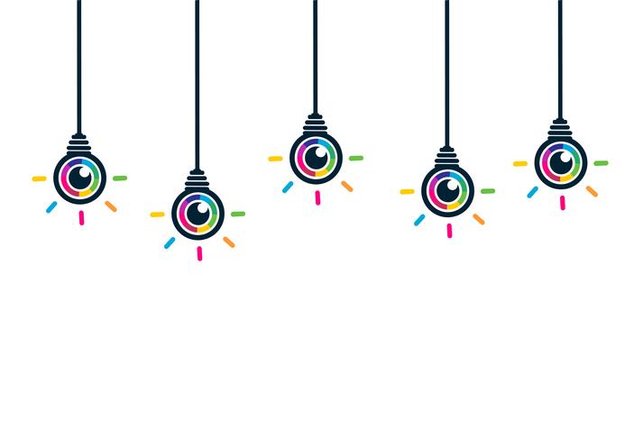 Colorful eye bulbs