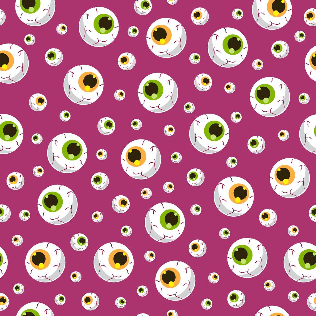 Halloween eyeball seamless pattern on black background. halloween pattern background. vector illustration