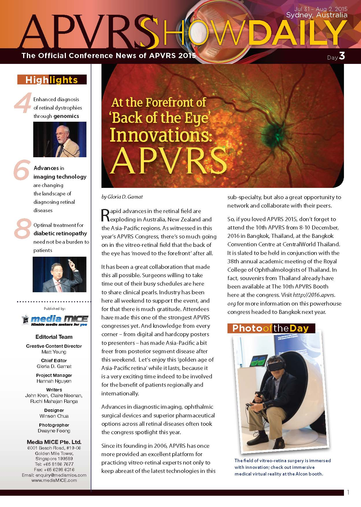 APVRS_ShowDaily_2015 issue3 issuu