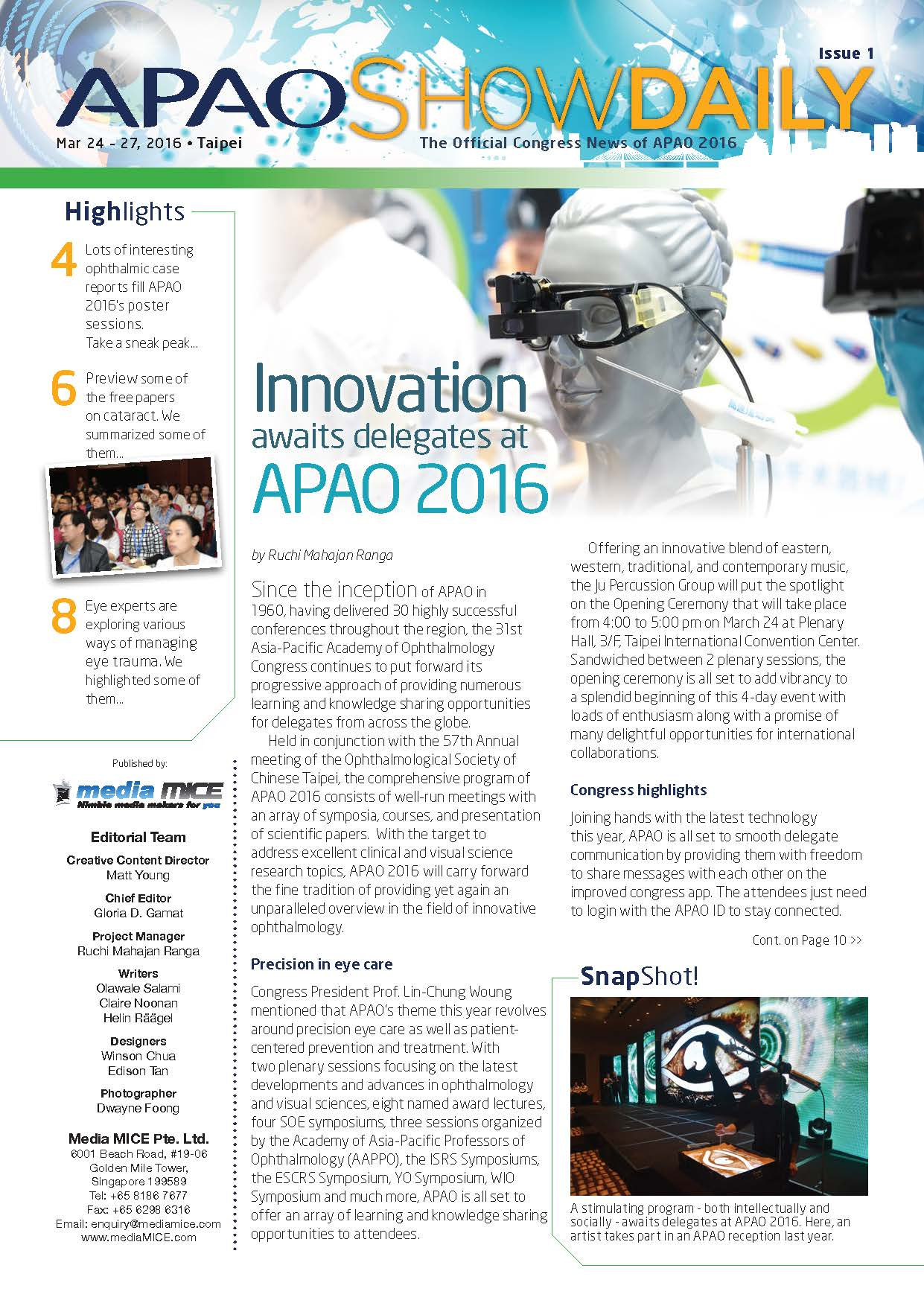 APAO ShowDaily Issue1 APAO web