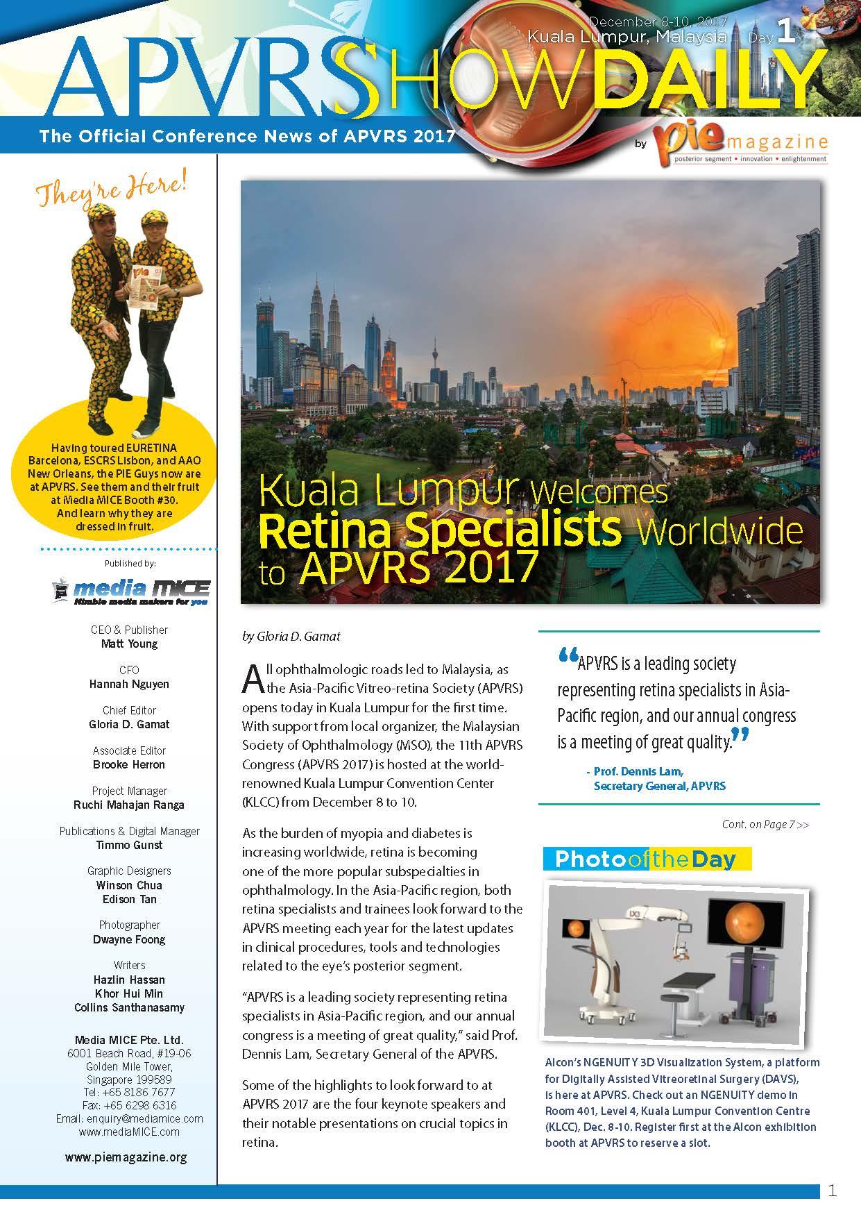 APVRS2017_ShowDaily Day1 issuu