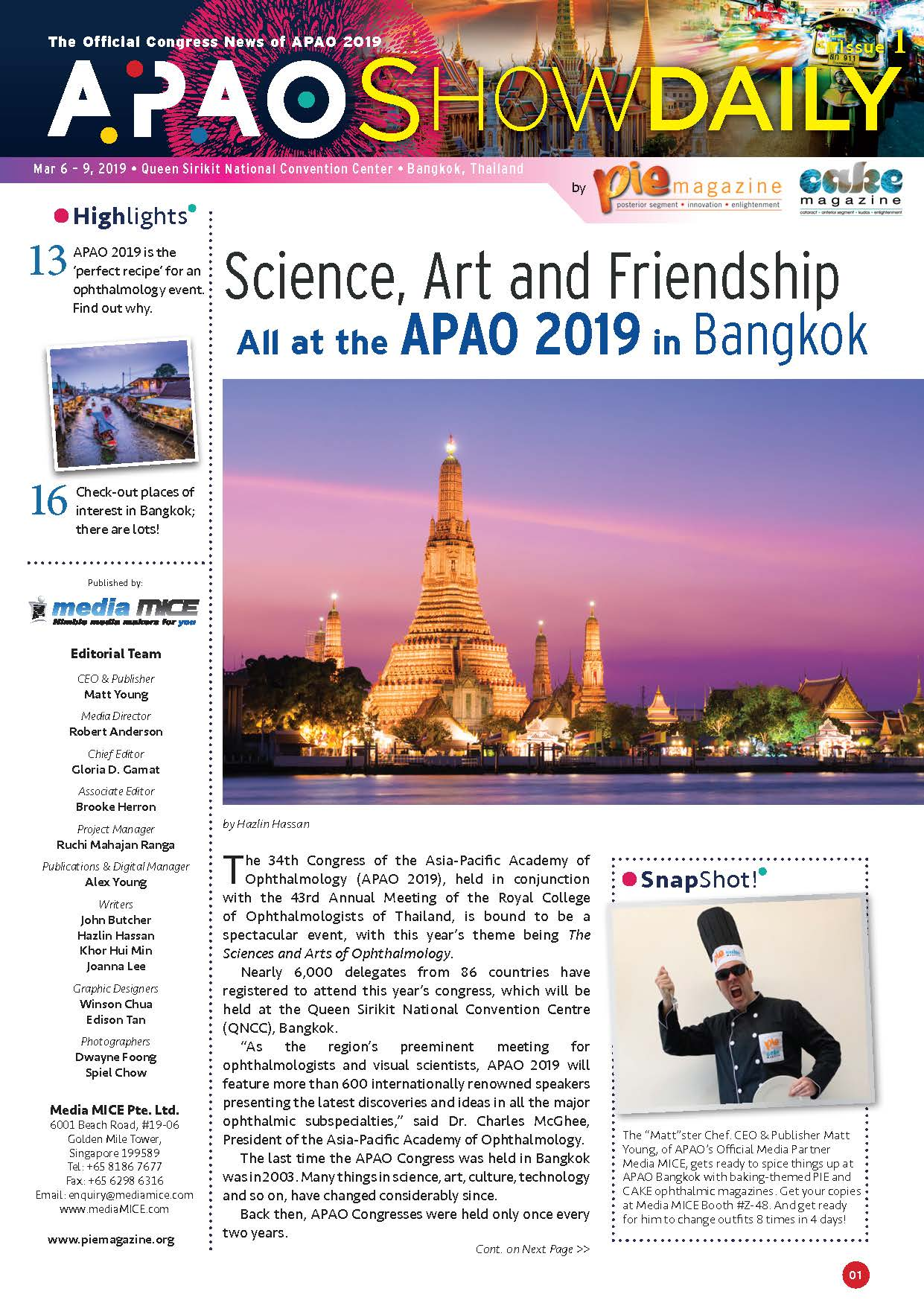APAO2019 ShowDaily issue1 issuu
