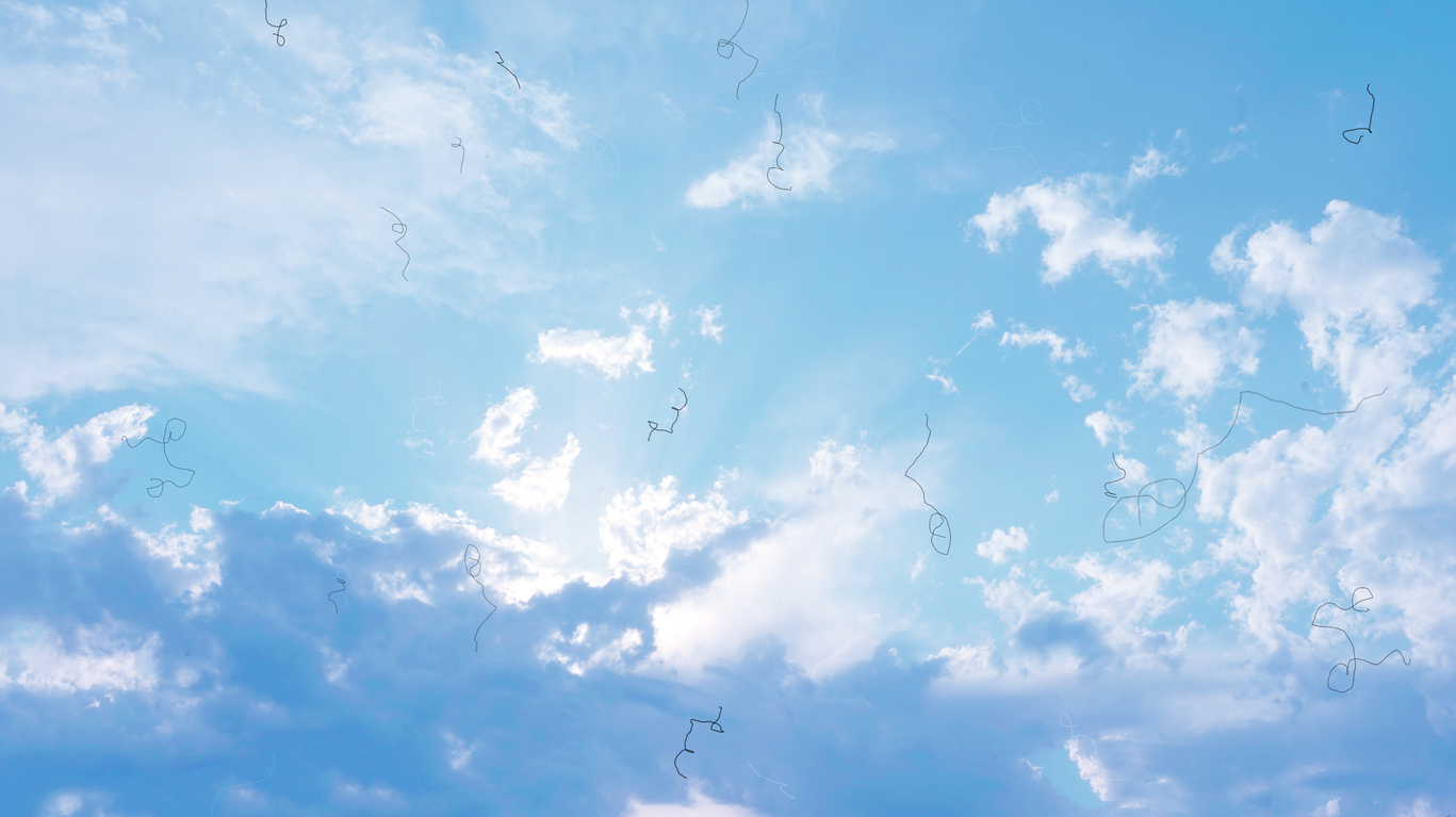 Myodesopsia (Eye Floaters) looking at the Sky